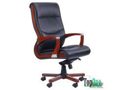 Кресло AMF Монтана НВ, кожа черная (619-B+PVC) 38670