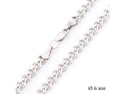 Серебряная родированная цепочка плетение Нонна