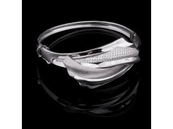 Женский браслет из белого золота с фианитами