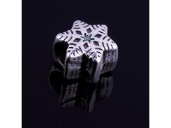 Снежинка (серебро,чернение)