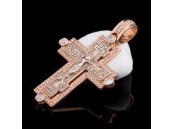 Православный крест с фианитами