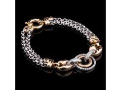 Женский браслет из желтого и белого золота
