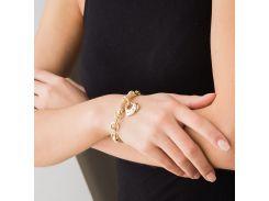 Золотой браслет с сердцем