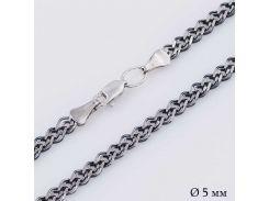 Серебряная черненая цепочка плетение Нонна