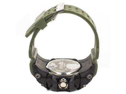 ☜Часы Smael 1545 Green с метками влагозащищенные нержавеющая сталь круглый дисплей с хронографом Киев