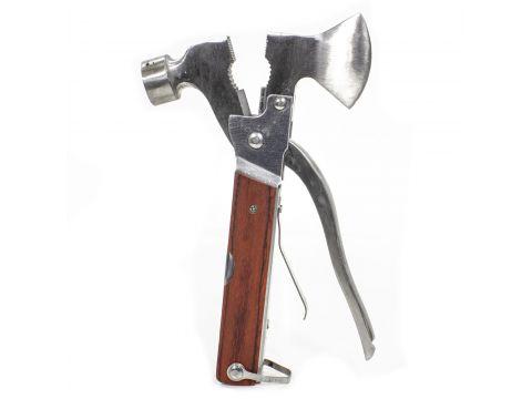 ✓Мультитул Lesko 10-777-22 плоскогубцы молоток Multi hammer мультиинструмент 9 в 1 топор молоток для туриста Киев
