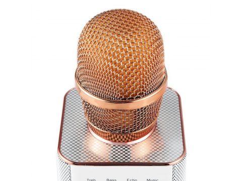 ★Беспроводной микрофон Micgeek Q9 Rose Gold для караоке динамик Батарея 2600 мАч инструмент для пения Киев