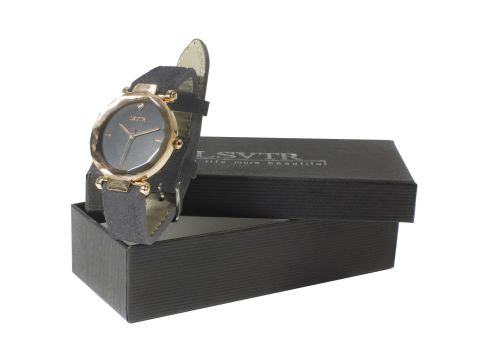 ✓Стильные часы женские LSVTR 2018 Grey многогранное стекло кварцевый механизм мягкий ремешок Киев