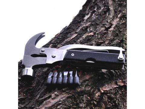 Мультитул Lesko Multi hammer 18 в 1 плоскогубцы, молоток, пассатижи, секира, кусачки, нож прямой, открывашка