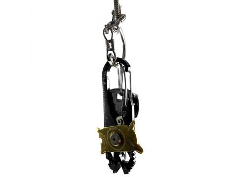 Мультитул Lesko 20 в 1 карманный брелок, линейка, зачистка проводов, карабин, отвертка, стропорез
