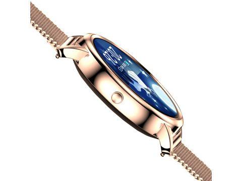 Смарт-часы Lemfo MK20 Gold подсчет шагов измерение пульса Android IOS