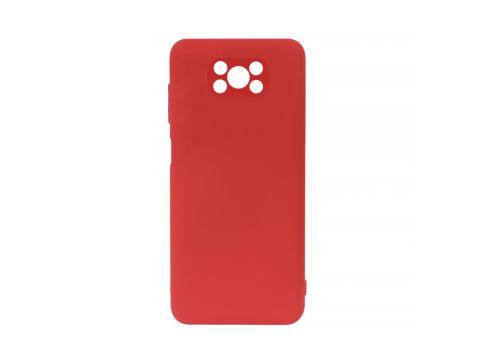 Защитный силиконовый чехол Lesko для Xiaomi Poco X3 Red Soft Touch