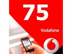 ☎Стартовый пакет Vodafone 75 выгодный 3G интернет безлимитные звонки в сети 100 минут на других операторов
