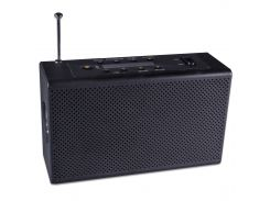 Фонарь Haoyi HY-018 Черный с радио, USB, micro SD с динамо машиной и встроенным аккумулятором