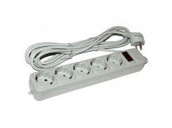 ★Фильтр питания Maxxter 1.8м (SPM5-G-6G) Серый универсальный для бытовой техники