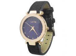➣Элегантные часы LSVTR Fashion Black мягкий ремешок кварцевый механизм для девушек и женщин
