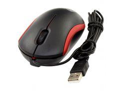 ✓Мышь Frime FM-010 Черный+Красный офисная компактная 3 кнопки матовый корпус