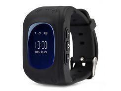☛Смарт-часы UWatch Q50 Black детские SOS с функцией звонка и GPS Smartwatch android IOS
