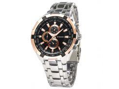 ✥Мужские часы CURREN 8023 Silver + Gold нержавеющий корпус с кварцевым механизмом влагозащищенные для мужчин