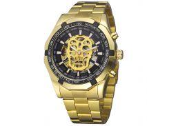 ✪Механические часы Winner 486 Gold автоматические стальные нержавеющая сталь влагозащищенные для мужчин