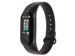 "✪Фитнес браслет Smart Band M3 Plus Black цветной 0.96"" TFT экран умные часы Bluetooth 4.1 Android 4.4 IOS 9.0"