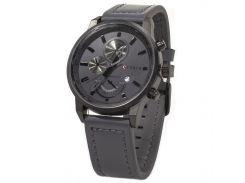 ➛Мужские часы CURREN 8217 Black кварцевые наручные влагозащищенные с двойным механизмом стальной корпус