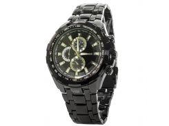☄Часы CURREN 8023 Black нержавеющие кварцевые часы влагозащищенные круглый дисплей деловые для мужчин