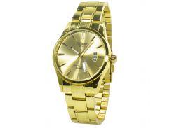 ★Влагозащищенные часы SWIDU SWI-021 Gold с кварцевым механизмом стальные нержавеющие для мужчин наручные