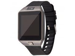 """ϞСмарт-часы UWatch DZ09 [GQ] Black умные часы спортивные LCD экран 1.54"""" Bluetooth батарея 230 мАч для Android"""