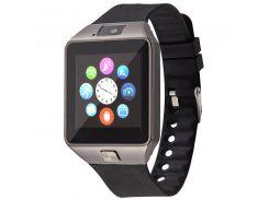 ✓Смарт-часы UWatch DZ09 Black универсальные с поддержкой SIM карты Smartwatch для android