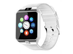 ➚Смарт-часы UWatch DZ09 White Bluetooth умные часы фитнес браслет подсчет шагов USB 3.0