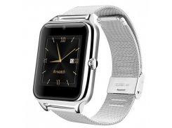 ➨Смарт-часы Smart Watch Z60 Silver Bluetooth OLED функции телефона умный фитнес браслет подсчет шагов