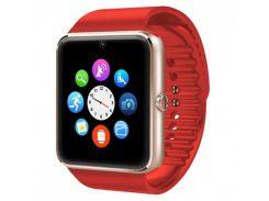 ★Смарт-часы UWatch GT08 Red мониторинг сна подсчет шагов аудио/видео Bluetooth 3.0 Батарея 380 мАч