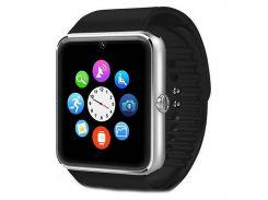 """➤Умные смарт-часы UWatch GT08 Silver Bluetooth экран 1.54"""" емкость 380mAh карта памяти Sim часы-телефон"""