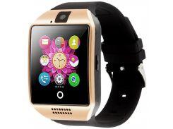 ➜Смарт-часы UWatch Q18 Gold умные часы Bluetooth камера прием звонков Батарея 500 мАч 240х240