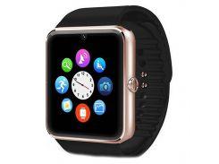 ϞСмарт-часы UWatch GT08 Gold Bluetooth умный телефон дистанционное управление камера блютуз 3.0