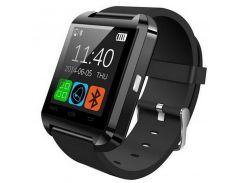 """➤Смарт-часы UWatch U8 [GQ] Black Bluetooth спортивные мониторинг сна сенсорный TFT экран 1.5"""" карта памяти"""