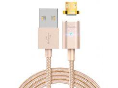 ★ Кабель Hoco U16 Micro USB магнитный Gold для смартфона планшета