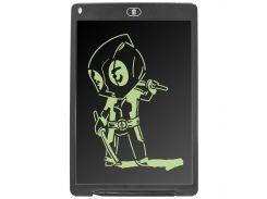 """➨Графический планшет Lesko LCD Writing Tablet 12"""" Black с стилусом для рисования"""