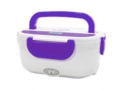 ★Ланч-бокс Lesko RJH-A2 Purple портативный пищевой пластик с кабелем для подогрева