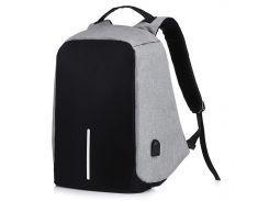 ✖Рюкзак Bobby Grey антивор с USB портом городской рюкзак Бобби удобный туристический
