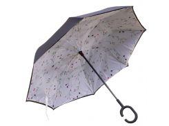✪Зонт Up-Brella Абстракция длинная ручка зонтик обратного складывания водоотталкивающая пропитка
