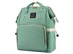 ➤Сумка для мам Maikunitu Mummy Bag Green USB-рюкзак для хранения вещей бутылочек непромокаемая