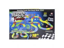 ✕Гонки Magic Tracks 360 деталей быстрые гонки мгновенная сборка светящаяся 1 машинка супер игра для детей