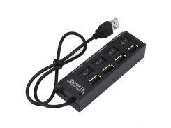 ☇Разветвитель Lesko A035 Black USB Hub много портов универсальный компактный функциональный
