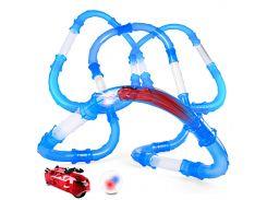 ☝Быстрые гонки Chariots Zipes Speed Pipes 52 элемента светящаяся гоночная 1 машина гонки в трубах супер игра