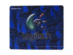 ☝Игровой коврик для мыши Logitech F2 200*240*1.5mm Blue игровая поверхность для мышки