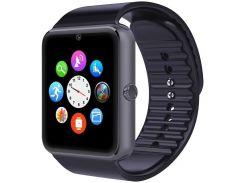 ✸Смарт-часы UWatch GT08 [GQ] Black Bluetooth умные часы с камерой экран 1.54 мониторинг сна батарея 380 мАч