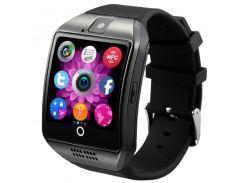 """☛Смарт-часы 1.5"""" UWatch Q18 Black функция приём звонков Bluetooth 3.0 сенсорный экран слот карта памяти 380мАч"""