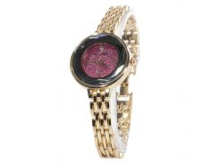 ☎Кварцевые часы Pollock Jewel Red стрелочные круглые наручные модный аксессуар года